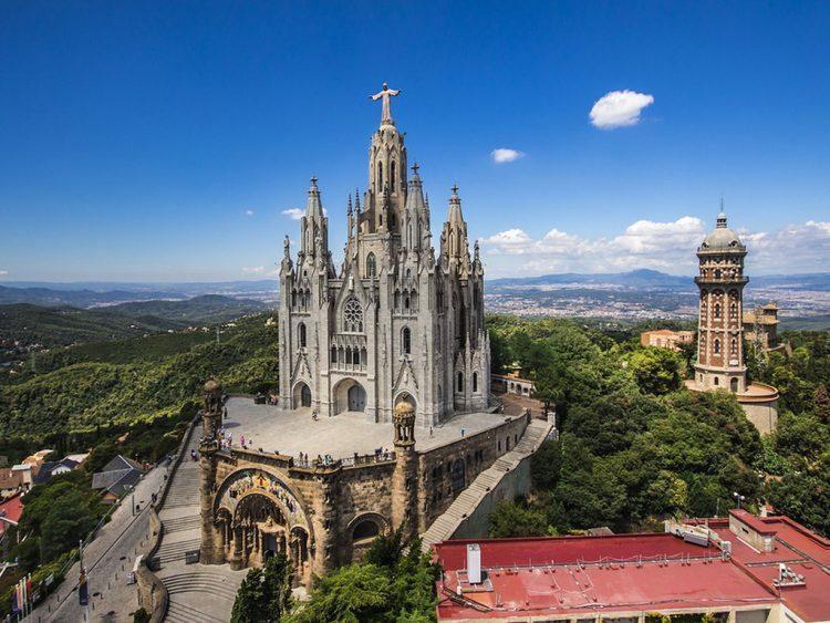 Гора Тибидабо Барселона