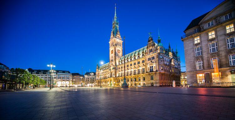 Ратушная площадь Гамбург